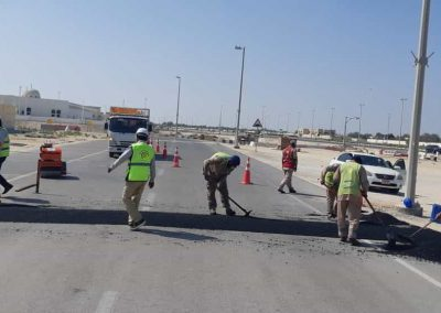 Rehabilitation of Distortions, Emergency Works, Assessment of Traffic Accidents, and Removal of Random Plantation within the Geographical Area of Municipality Branch Ccenter – Al Shahama