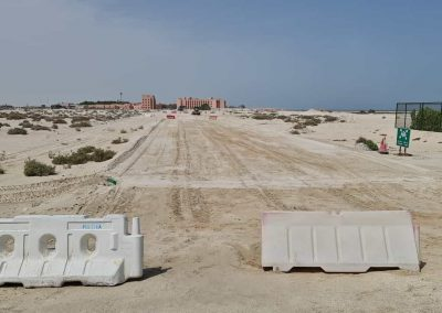 Infrastructure Works for The Temporary Beach Chalet Plots at Al Nouf Area